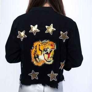 Nasty Gal sequin tiger jacket
